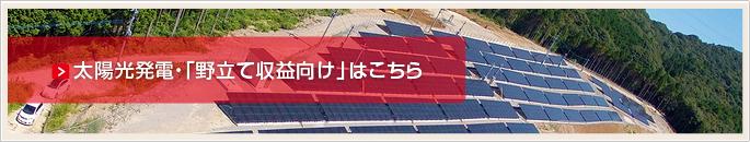 太陽光発電・野立て収益向け