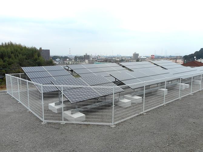 太陽光発電(野立て収益向け)の施工実績「大分市I様邸/発電量21.0kw/メーカー:三菱」
